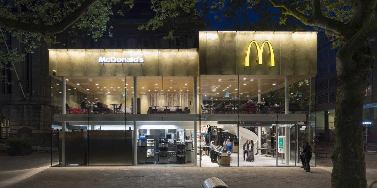 بازسازی شعبه مک دونالد روتردام مشابه اپل