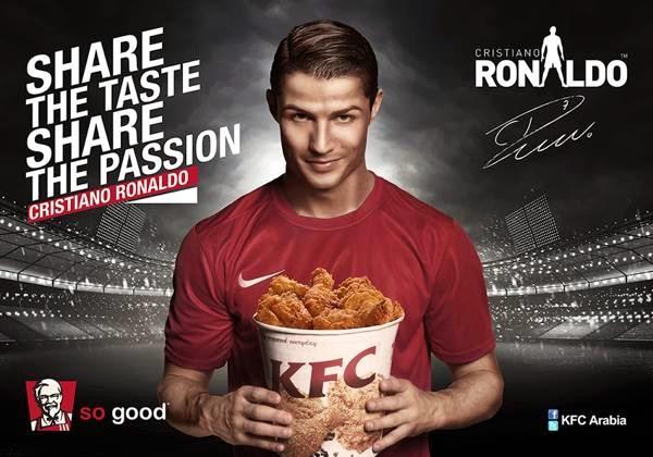 رونالدو در آگهی تبلیغاتی KFC