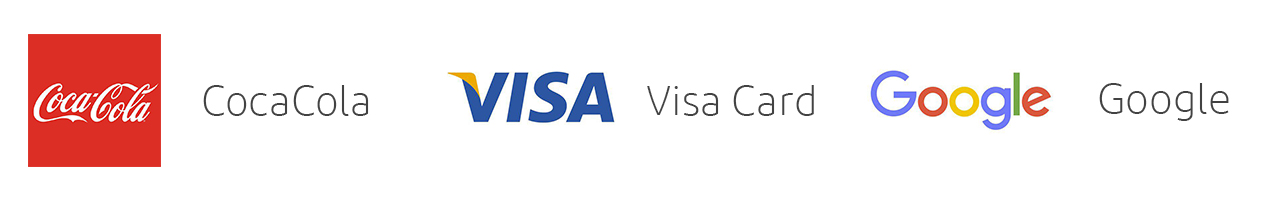 Cocacola visa card google logo