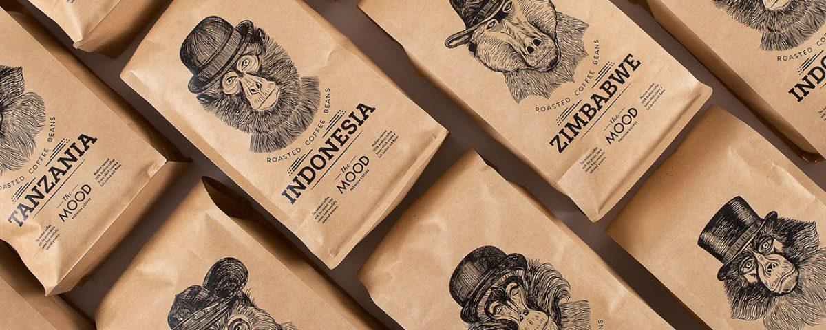 بسته بندی خلاق قهوه با الهام از حالات صورت میمون