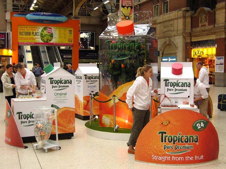 تبلیغات بازاریابی تجربی آب میوه