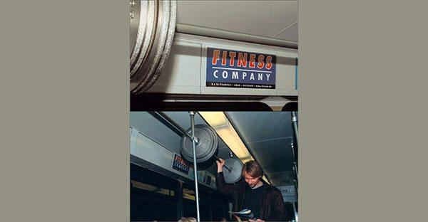 تبلیغات باشگاه بدنسازی در مترو