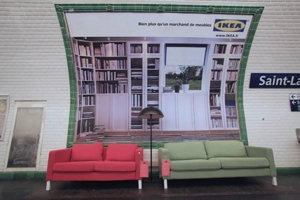 تبلیغات ایکیا در مترو