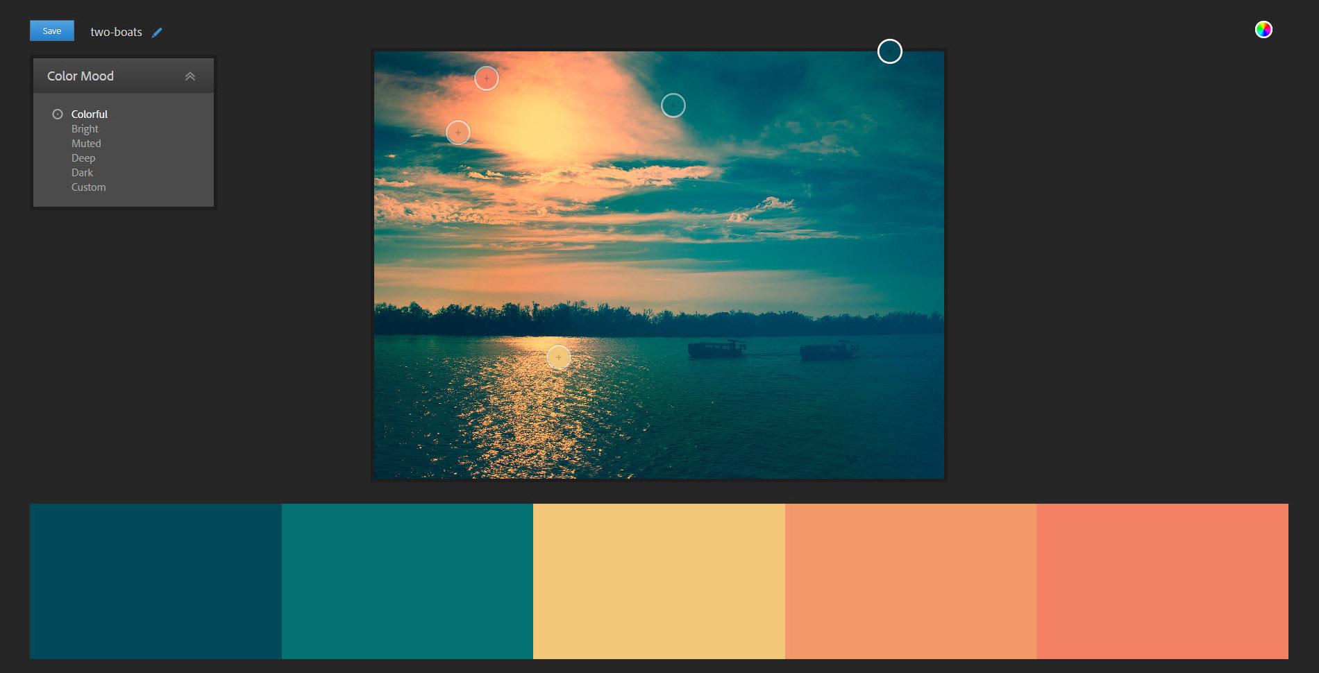ساخت پالت رنگ - اینستاگرام